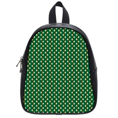 Irish Flag Green White Orange On Green St  Patrick s Day Ireland School Bag (small) by PodArtist