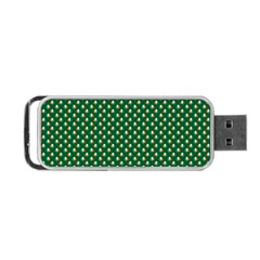 Irish Flag Green White Orange On Green St  Patrick s Day Ireland Portable Usb Flash (one Side)