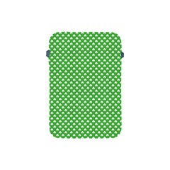 White Heart Shaped Clover On Green St  Patrick s Day Apple Ipad Mini Protective Soft Cases by PodArtist