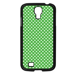 White Heart Shaped Clover On Green St  Patrick s Day Samsung Galaxy S4 I9500/ I9505 Case (black) by PodArtist