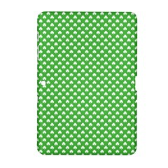 White Heart Shaped Clover On Green St  Patrick s Day Samsung Galaxy Tab 2 (10 1 ) P5100 Hardshell Case  by PodArtist