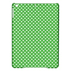 White Heart Shaped Clover On Green St  Patrick s Day Ipad Air Hardshell Cases by PodArtist