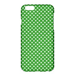 White Heart Shaped Clover On Green St  Patrick s Day Apple Iphone 6 Plus/6s Plus Hardshell Case by PodArtist