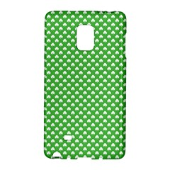 White Heart Shaped Clover On Green St  Patrick s Day Galaxy Note Edge by PodArtist