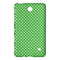 White Heart Shaped Clover On Green St  Patrick s Day Samsung Galaxy Tab 4 (8 ) Hardshell Case  by PodArtist