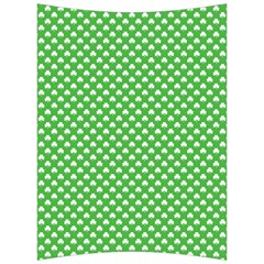 White Heart Shaped Clover On Green St  Patrick s Day Back Support Cushion by PodArtist