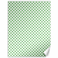 Green Heart Shaped Clover On White St  Patrick s Day Canvas 36  X 48   by PodArtist