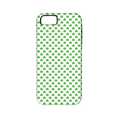 Green Heart Shaped Clover On White St  Patrick s Day Apple Iphone 5 Classic Hardshell Case (pc+silicone) by PodArtist