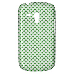 Green Heart Shaped Clover On White St  Patrick s Day Galaxy S3 Mini by PodArtist
