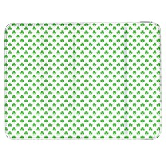 Green Heart-shaped Clover On White St  Patrick s Day Samsung Galaxy Tab 7  P1000 Flip Case by PodArtist