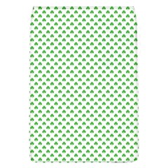 Green Heart Shaped Clover On White St  Patrick s Day Flap Covers (l)  by PodArtist
