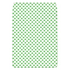 Green Heart Shaped Clover On White St  Patrick s Day Flap Covers (s)  by PodArtist