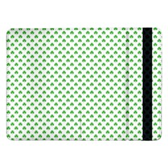 Green Heart-shaped Clover On White St  Patrick s Day Samsung Galaxy Tab Pro 12 2  Flip Case by PodArtist