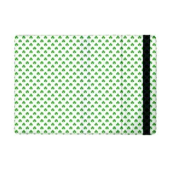 Green Heart Shaped Clover On White St  Patrick s Day Ipad Mini 2 Flip Cases by PodArtist