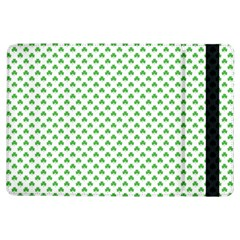 Green Heart Shaped Clover On White St  Patrick s Day Ipad Air Flip by PodArtist