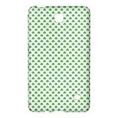 Green Heart Shaped Clover On White St  Patrick s Day Samsung Galaxy Tab 4 (8 ) Hardshell Case  by PodArtist