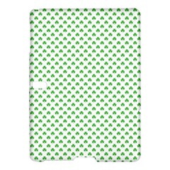 Green Heart Shaped Clover On White St  Patrick s Day Samsung Galaxy Tab S (10 5 ) Hardshell Case  by PodArtist