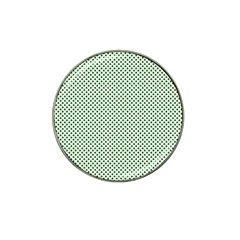 Shamrock 2 Tone Green On White St Patrick's Day Clover Hat Clip Ball Marker (4 Pack) by PodArtist