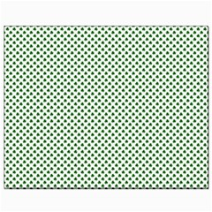 Shamrock 2 Tone Green On White St Patrick's Day Clover Canvas 8  X 10  by PodArtist