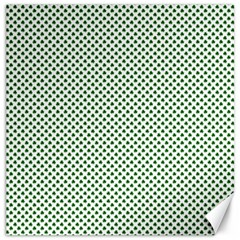 Shamrock 2 Tone Green On White St Patrick's Day Clover Canvas 16  X 16   by PodArtist
