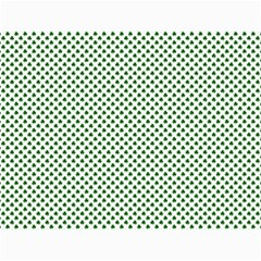 Shamrock 2 Tone Green On White St Patrick's Day Clover Canvas 18  X 24   by PodArtist