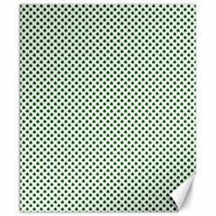 Shamrock 2 Tone Green On White St Patrick's Day Clover Canvas 20  X 24   by PodArtist