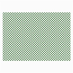 Shamrock 2 Tone Green On White St Patrick's Day Clover Large Glasses Cloth by PodArtist