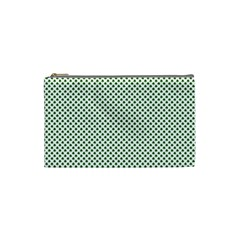 Shamrock 2 Tone Green On White St Patrick's Day Clover Cosmetic Bag (small)  by PodArtist