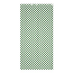 Shamrock 2 Tone Green On White St Patrick's Day Clover Shower Curtain 36  X 72  (stall)  by PodArtist