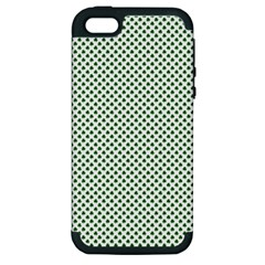 Shamrock 2 Tone Green On White St Patrick's Day Clover Apple Iphone 5 Hardshell Case (pc+silicone) by PodArtist
