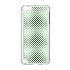 Shamrock 2 Tone Green On White St Patrick's Day Clover Apple Ipod Touch 5 Case (white) by PodArtist