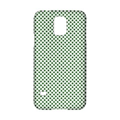 Shamrock 2 Tone Green On White St Patrick's Day Clover Samsung Galaxy S5 Hardshell Case  by PodArtist