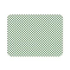 Shamrock 2 Tone Green On White St Patrick's Day Clover Double Sided Flano Blanket (mini)  by PodArtist