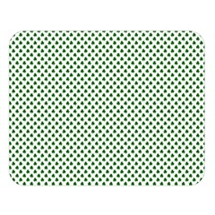 Shamrock 2 Tone Green On White St Patrick's Day Clover Double Sided Flano Blanket (large)  by PodArtist