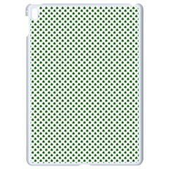 Shamrock 2 Tone Green On White St Patrick's Day Clover Apple Ipad Pro 9 7   White Seamless Case by PodArtist