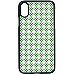 Shamrock 2 Tone Green On White St Patrick's Day Clover Apple Iphone X Seamless Case (black) by PodArtist