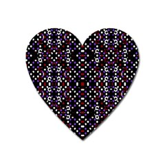 Futuristic Geometric Pattern Heart Magnet by dflcprints