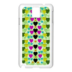 Summer Time In Lovely Hearts Samsung Galaxy Note 3 N9005 Case (white) by pepitasart