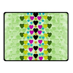 Summer Time In Lovely Hearts Double Sided Fleece Blanket (small)  by pepitasart