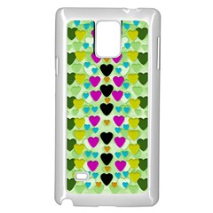 Summer Time In Lovely Hearts Samsung Galaxy Note 4 Case (white) by pepitasart