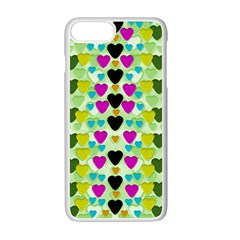 Summer Time In Lovely Hearts Apple Iphone 7 Plus Seamless Case (white) by pepitasart