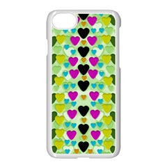 Summer Time In Lovely Hearts Apple Iphone 7 Seamless Case (white)