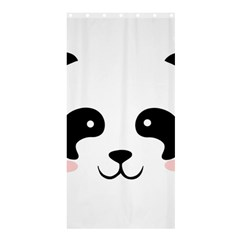 Panda  Shower Curtain 36  X 72  (stall)  by Valentinaart