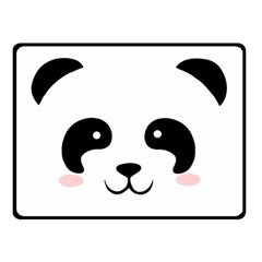 Panda  Double Sided Fleece Blanket (small)  by Valentinaart