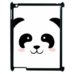 Panda  Apple Ipad 2 Case (black) by Valentinaart