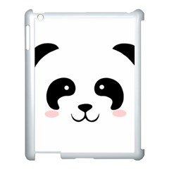 Panda  Apple Ipad 3/4 Case (white)