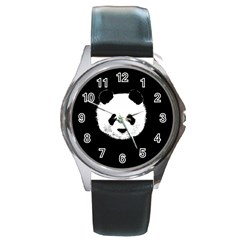 Panda  Round Metal Watch by Valentinaart