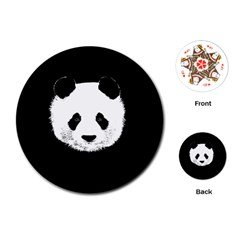 Panda  Playing Cards (round)  by Valentinaart