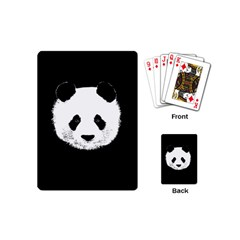 Panda  Playing Cards (mini)  by Valentinaart