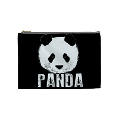 Panda  Cosmetic Bag (medium)  by Valentinaart